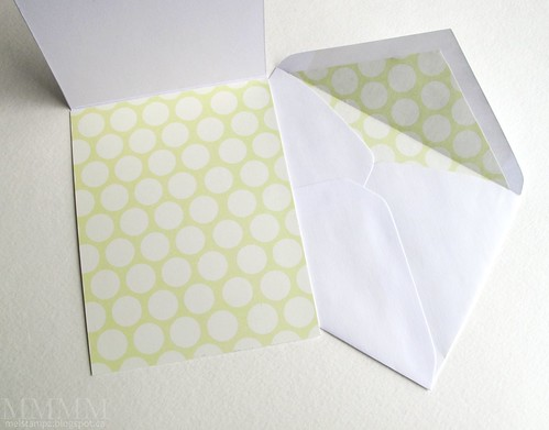 cheap trick - matching paper as an envelope liner & inside card