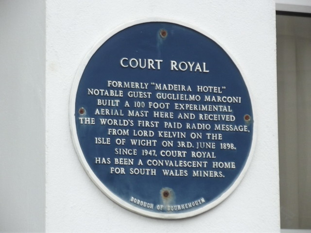 Photo of Madeira Hotel, Bournemouth, Court Royal, and Guglielmo Marconi blue plaque