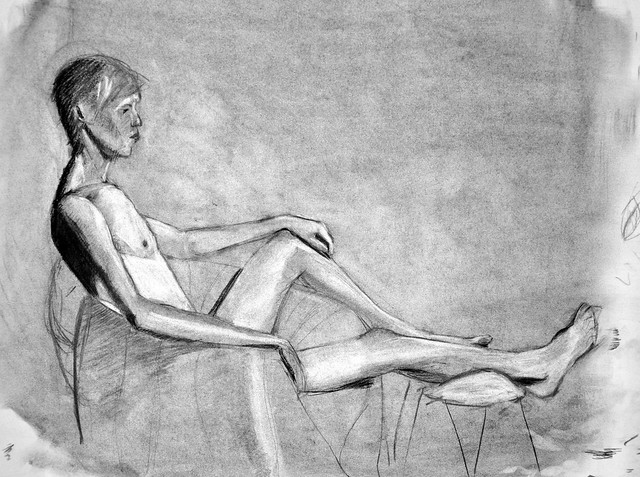 charcoal figure, 8/2/2013