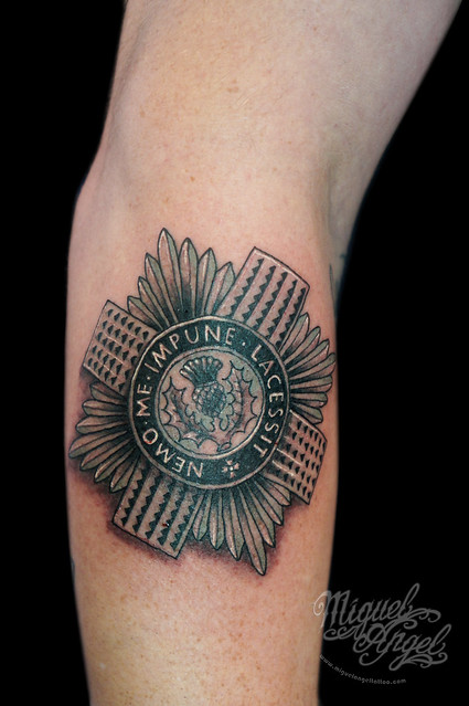 scots guards badge tattoo flickr photo sharing. Black Bedroom Furniture Sets. Home Design Ideas