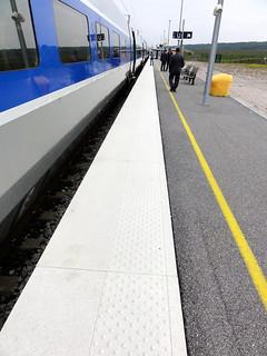 bande podotactile, gare de Meuse TGV (MONDRECOURT,FR55)