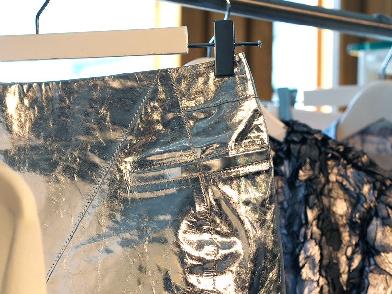 silver skirt H&M aw 1314