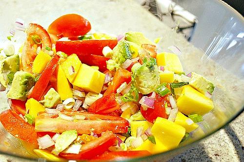 What's Cookin, Chicago: Mango & Tomato Salad