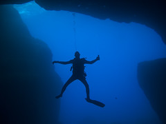 Inland diving in Malta.