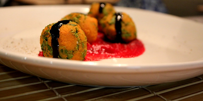sweet potato and kale balls