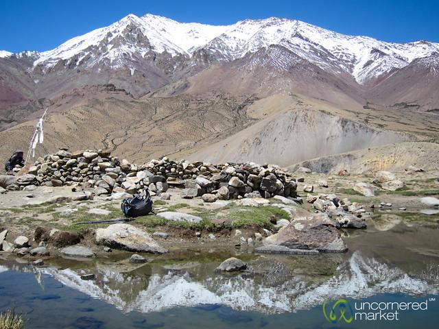 Lake Reflections of Kang Yaze Peak - Markha Valley Trek, Ladakh