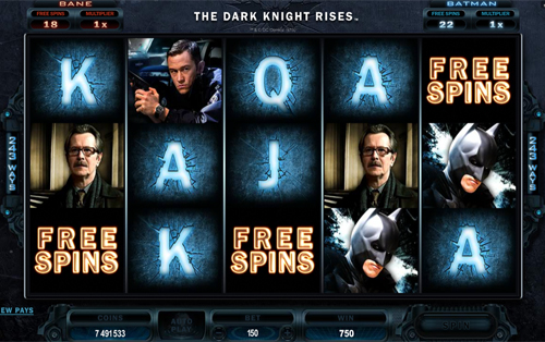 The Dark Knight Rises Free Spins