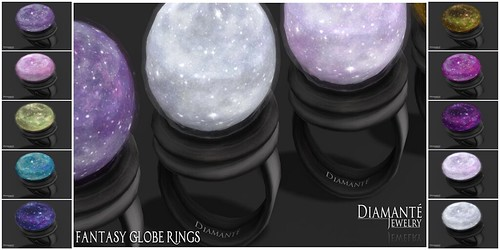:Diamante: Fantasy Globe Rings by Alliana Petunia