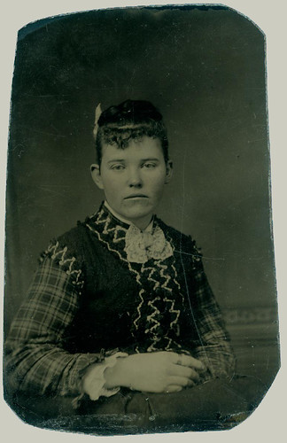 tintype woman with jumper