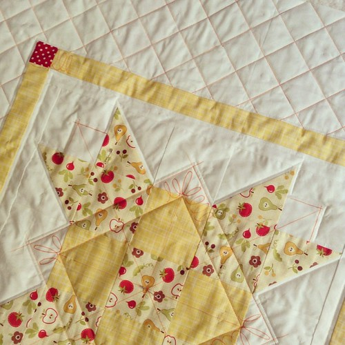 The farmers baby quilt - quilting in progress