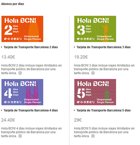 Como se locomover por Barcelona - Travel Card