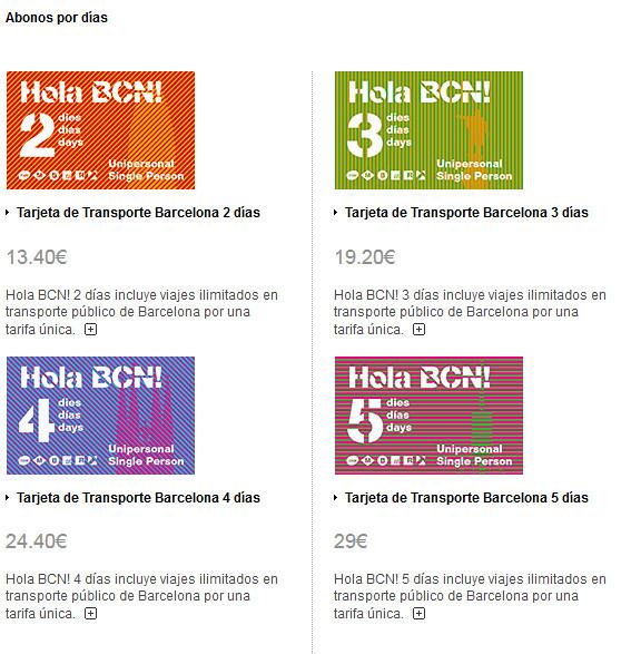 Como se locomover por Barcelona - Travel Card