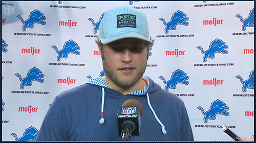 Matthew Stafford, Post Game Interview In Sportiqe