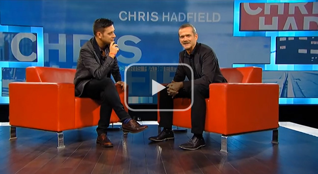 Commander Chris Hadfield chats with Strombo.
