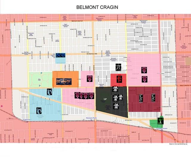 Belmont Cragin Gang Map Flickr Photo Sharing