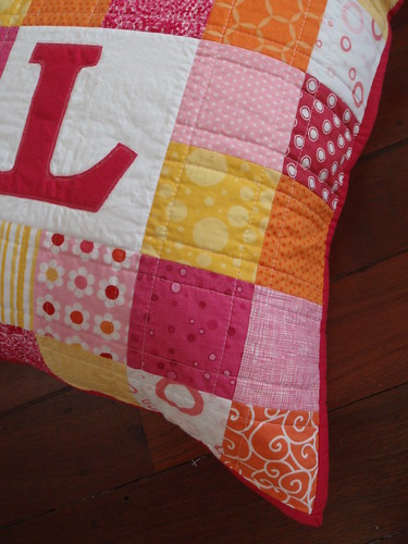 Personalised patchwork cushion