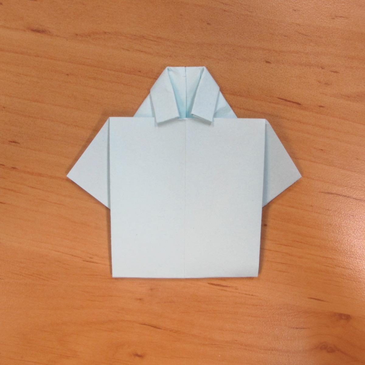 วิธีพับกระดาษเป็นรูปเสื้อเชิร์ต 007