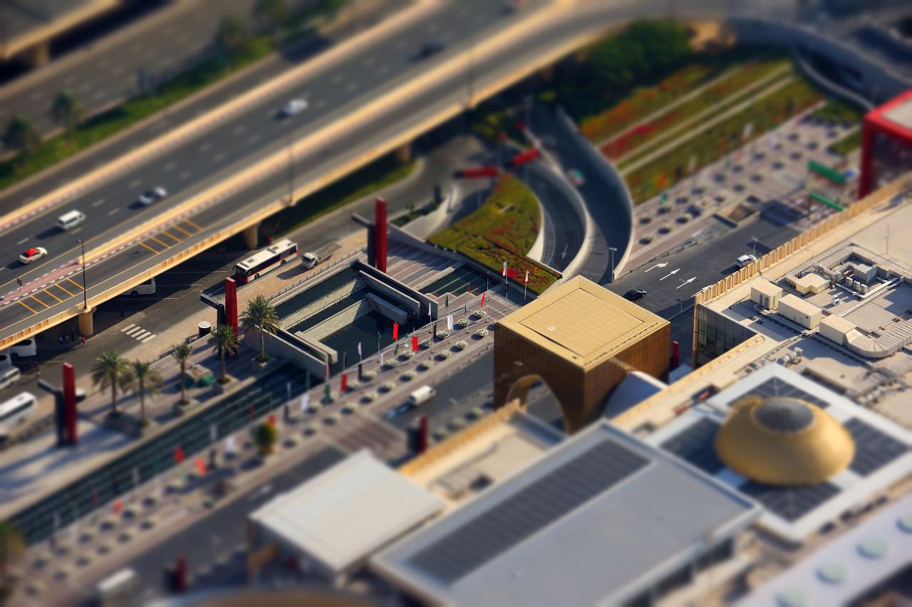 Miniature Dubai Mall Entrance