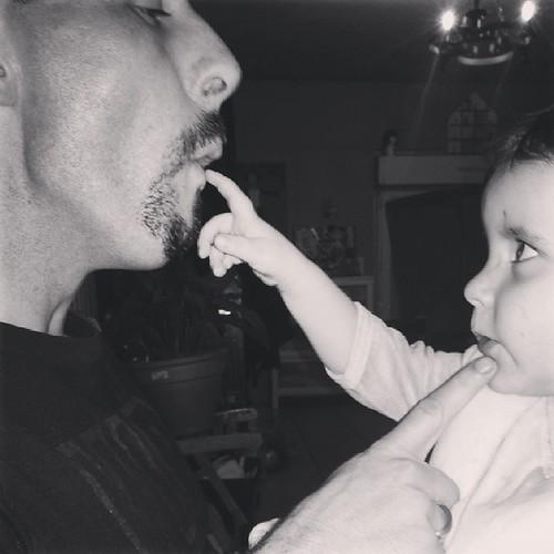 ♥ best dad ♥ #dad #baby #blackandwhite #instagram_kids #ourlittlefamily #france
