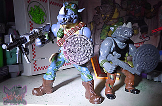 TEENAGE MUTANT NINJA TURTLES - CLASSIC COLLECTION :: ROCKSTEADY & BEBOP { tOkKustom Punk touch-ups } xxxiii // ..Rocky with '88 Rocksteady  (( 2013 ))