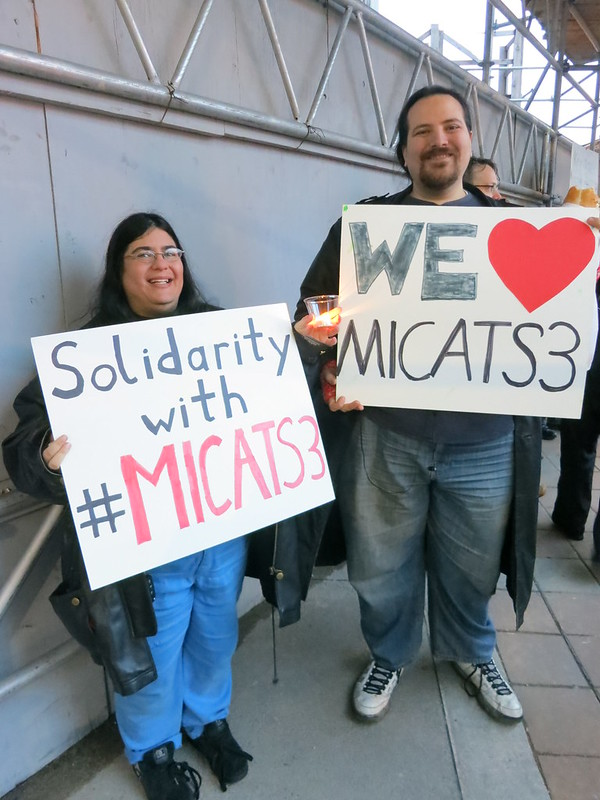 Mary and Benjamin Showing Solidarity with #MICATS3