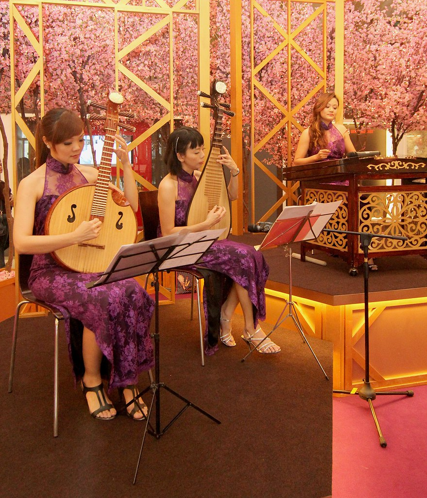 Chinese instrumental band wowing the shoppers with their performance at Avenue K this Chinese New Year