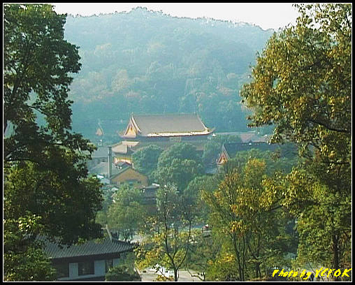杭州 西湖 (西湖十景之一) 淨慈寺 - 003 (南屏晚鐘)(從雷峰塔鳥瞰 淨慈寺)
