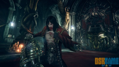 Castlevania Lords of Shadow 2, mostrando su lado vampirico