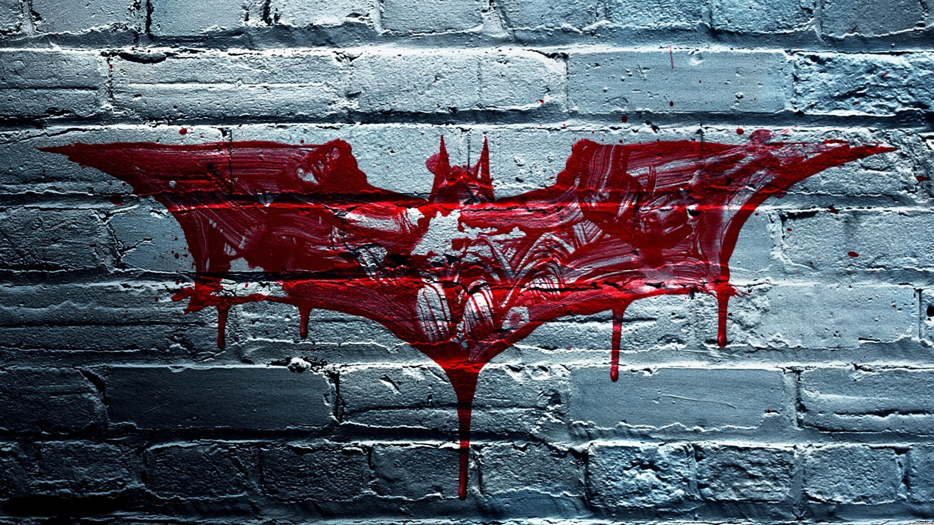 Bat painting Made Using Blood - Top 10 HD Batman Movie Desktop Wallpapers