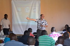 Danilo Pezo at the Pig Production and Marketing Uganda Ltd. training