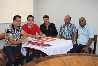David Martins, Márcio Pavan, vereador de Estiva Gerbi, Luís Zanco Neto, vereador de Mogi Guaçu, Claudinei Rosa e Paulo Henrique Joaquim