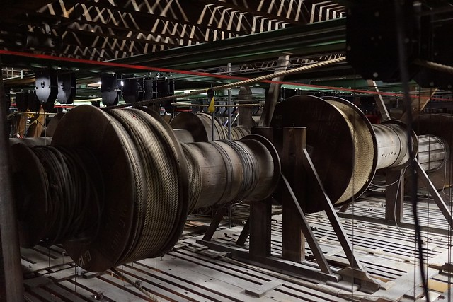 Stage Machinery of the Bourla Theater, Antwerp, BELGIUM