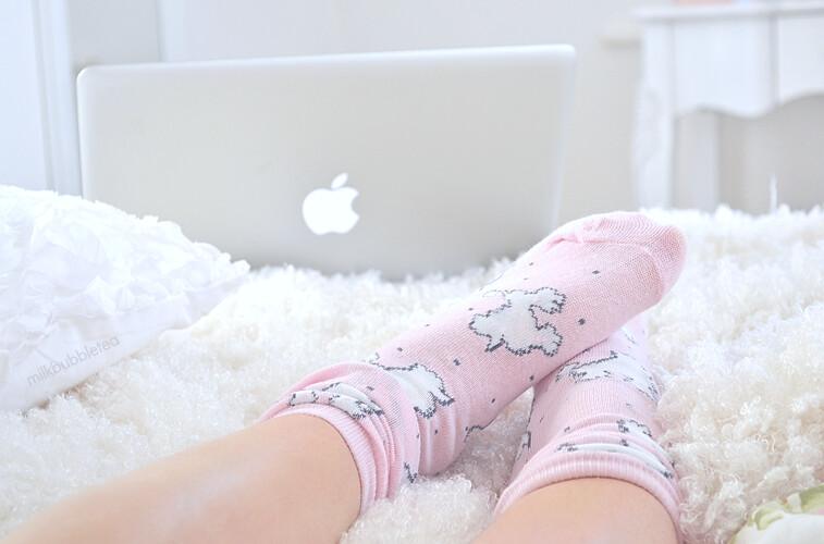 poodle socks milk bubble tea blog