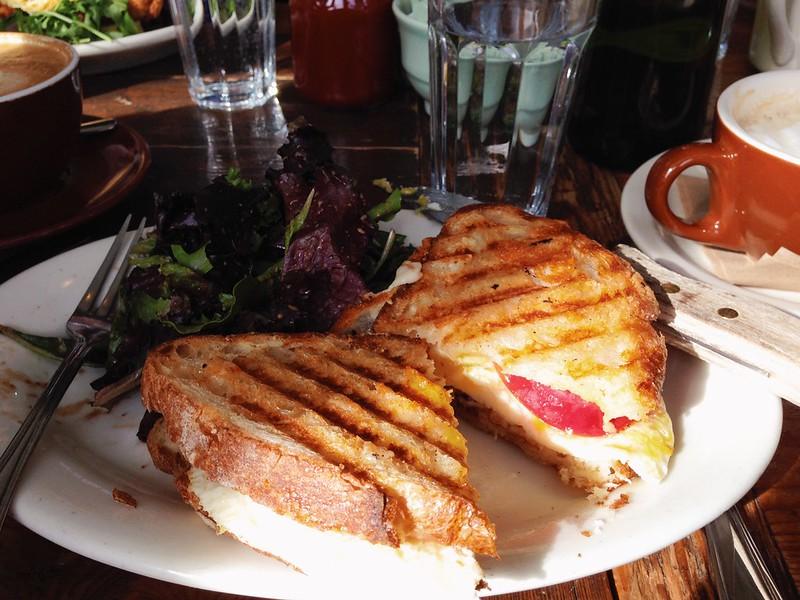 Post-run breakfast panini