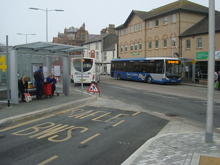 X50 Optare Tempo bus in Aberystwyth