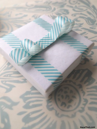 Spring Washi Tape Gift Wrap