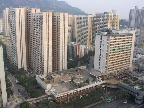 香港高密度住宅;來源:維基百科