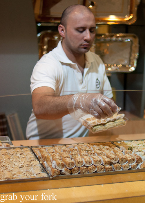 Lebanese baklava during a Frying Pan Adventures food tour in Dubai