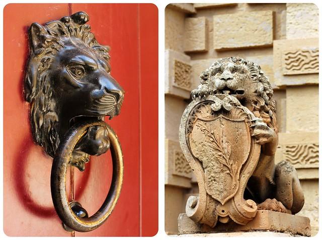 Lions in Mdina Malta