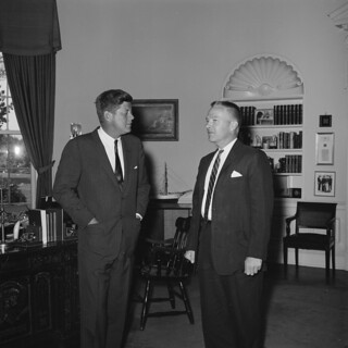President John F. Kennedy with White House Staffer
