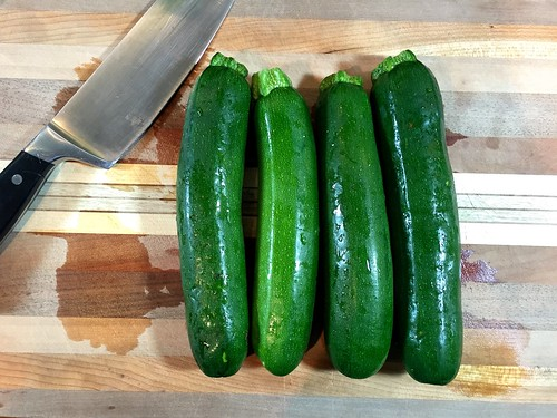one and a half pounds of zucchini
