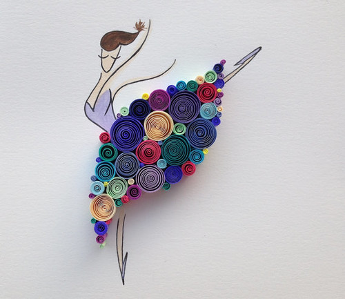 Quilled Dancing Queen by Sena Runa