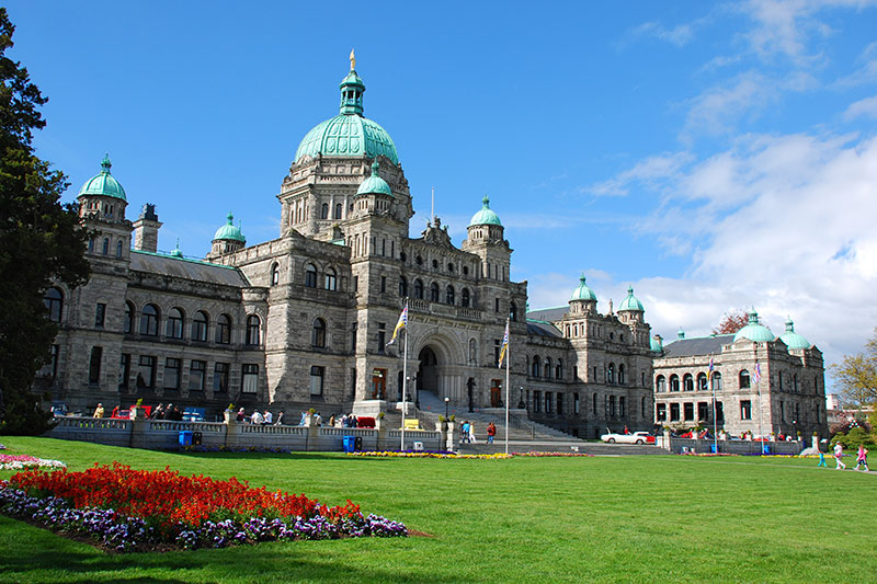 Legislative Building of the Government of British Columbia in Victoria