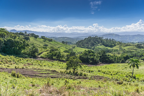 weide wolken landschaft lavega karibik hatillo dominikanischerepublik nordamerika cordilleracentral