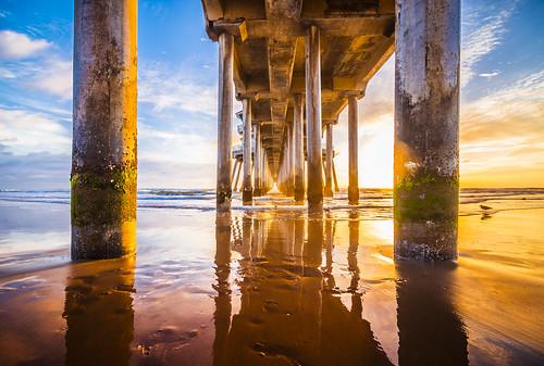 ocean california longexposure light sun reflection beach pier nikon waves tokina socal lowtide orangecounty huntingtonbeach hb goldenhour paulmccartney hoya d800 ndfilter nd400 hbpier meeyak