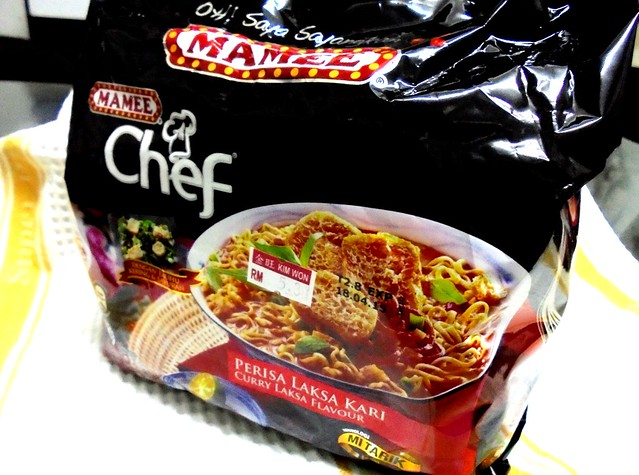 Mamee Chef curry laksa noodles 1