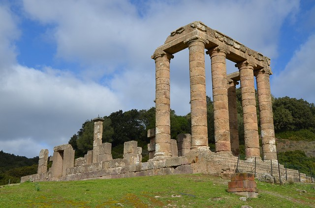Temple of Antas, a Punic-Roman temple, first built around 500 BC, and restored around 300 BC, the Roman temple was built under Augustus and restored under Caracalla, Sardinia