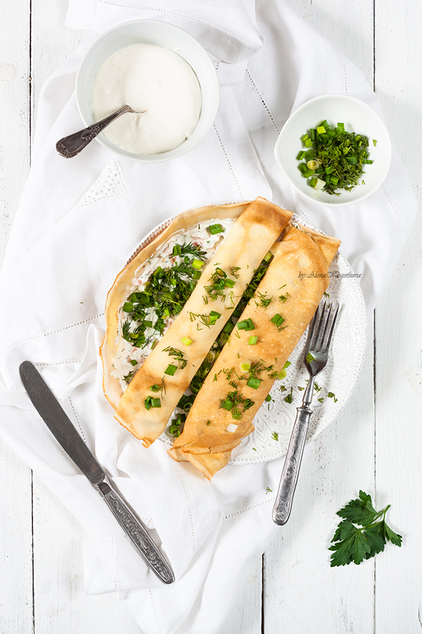 Pancakes with Salmon and Cream Cheese-30