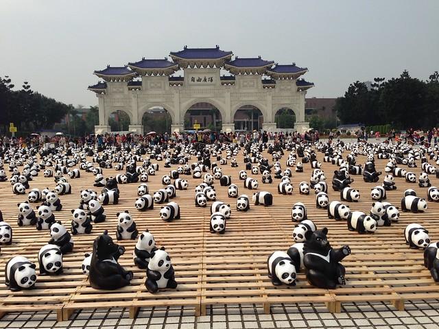 熊貓快閃@中正紀念堂,紙貓熊展,1600貓熊世界之旅