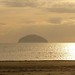 Girvan, Ailsa Craig. From the Promenade. Spring Evening